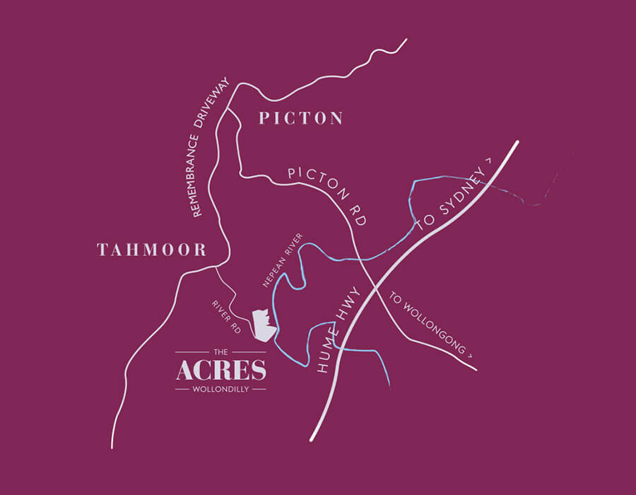 The Acres mud map