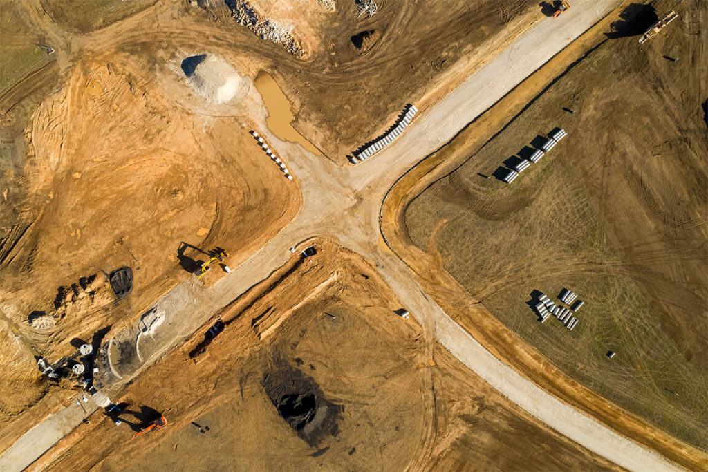 Construction Aerial View