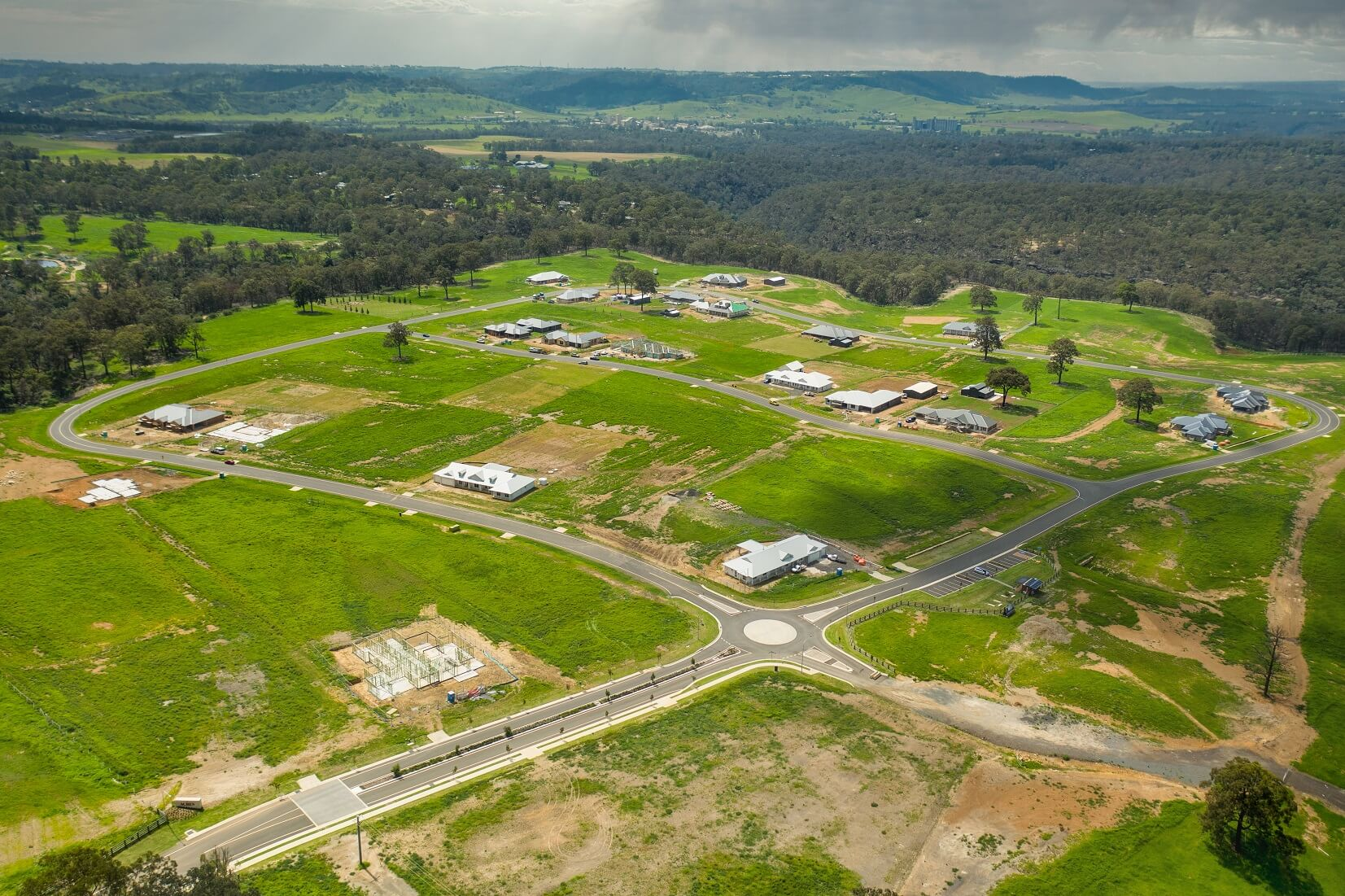 The Acres Aerial view